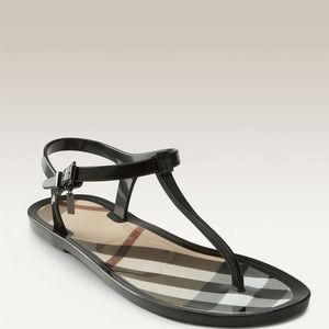 Burberry T-Strap Jelly Sandal